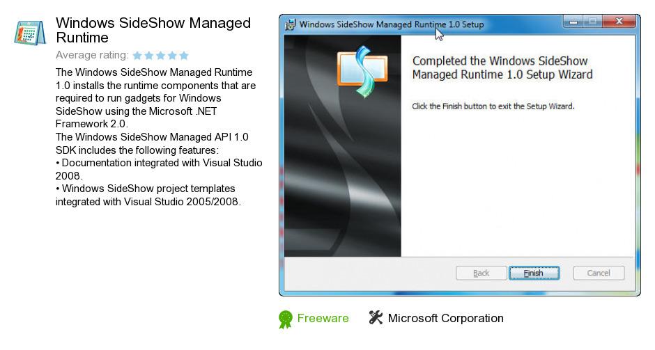 Windows SideShow Managed Runtime