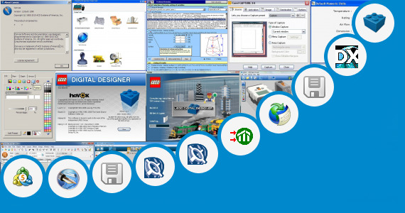 Software collection for Lego Technic Designer Software