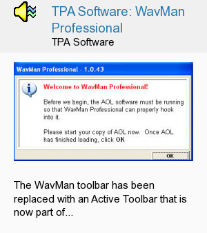 TPA Software: WavMan Professional