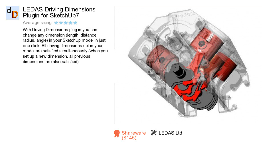 LEDAS Driving Dimensions Plugin for SketchUp7