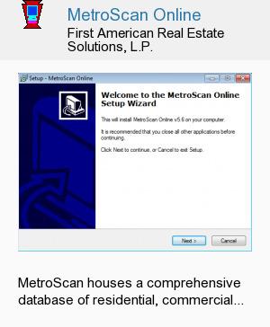 MetroScan Online