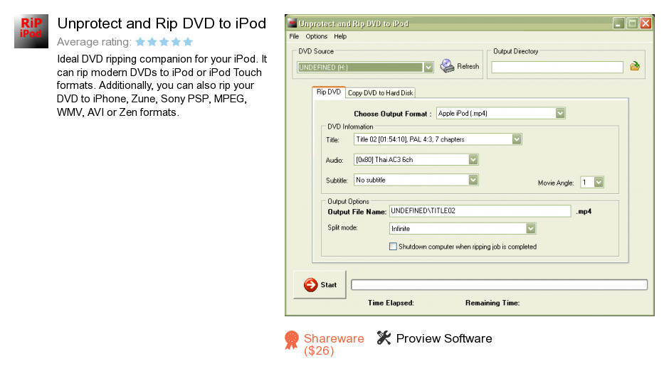Unprotect and Rip DVD to iPod