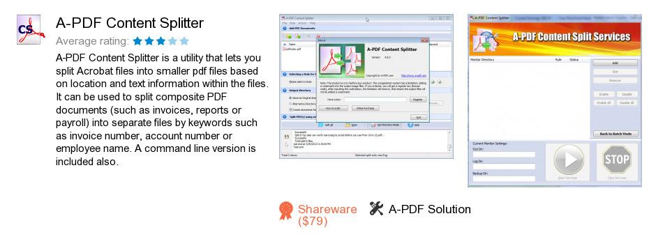 A-PDF Content Splitter