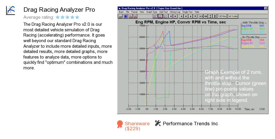 Drag Racing Analyzer Pro