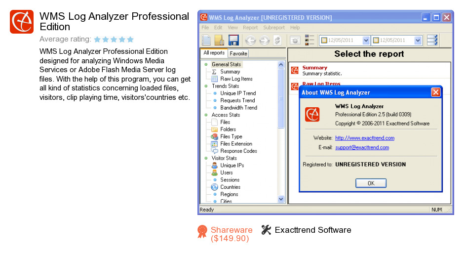 WMS Log Analyzer Professional Edition