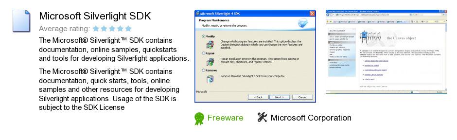 Microsoft Silverlight SDK