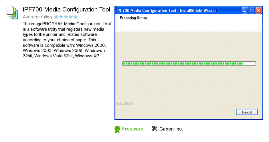 IPF700 Media Configuration Tool