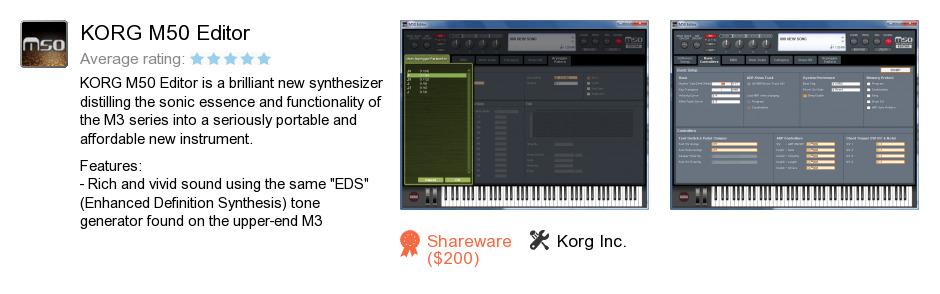 KORG M50 Editor