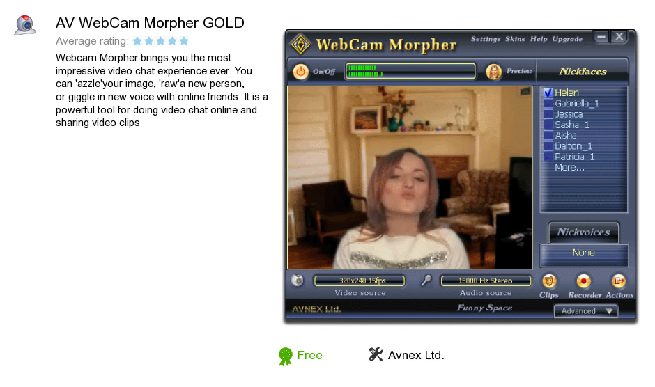 AV WebCam Morpher GOLD