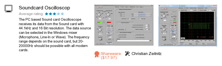 Soundcard Oscilloscop