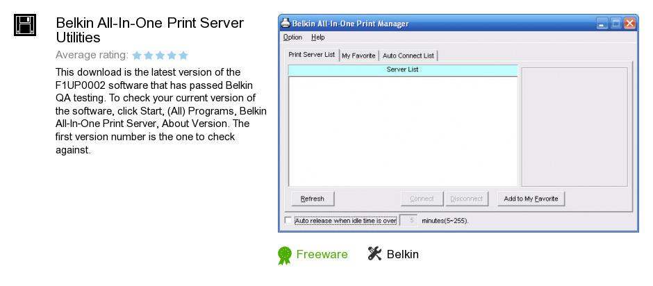 Belkin All-In-One Print Server Utilities