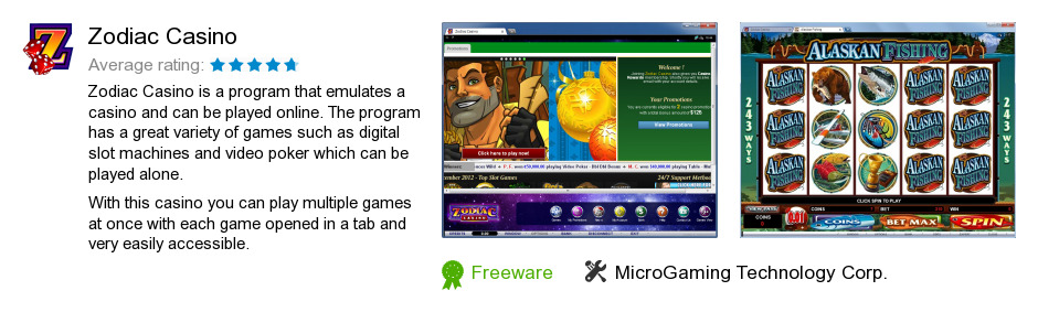 download zodiac casino software
