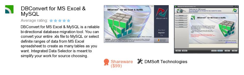 DBConvert for MS Excel & MySQL