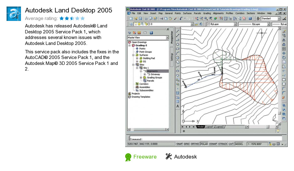 Download autodesk land development software for free (Windows)