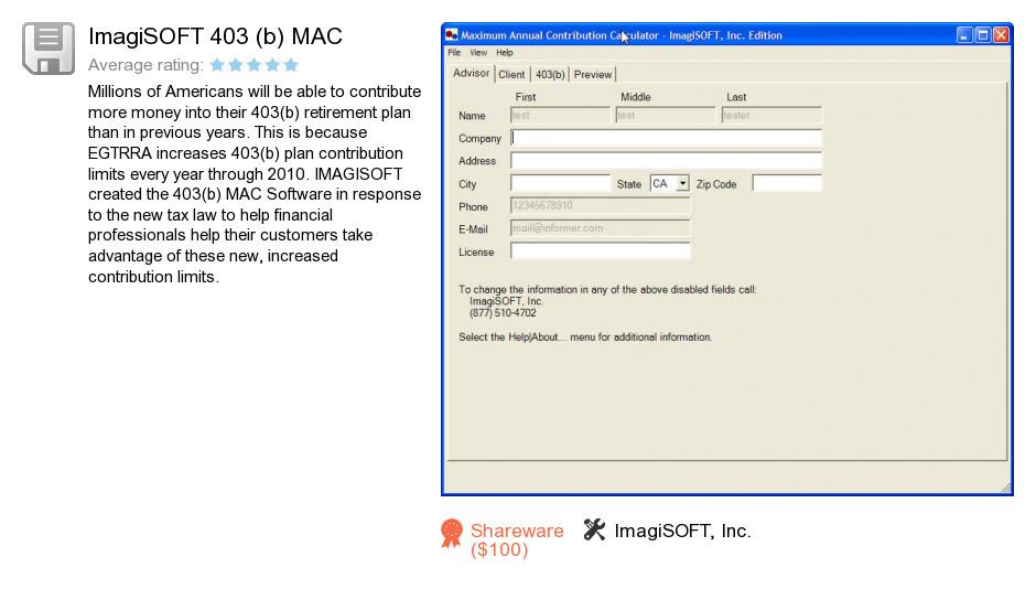 ImagiSOFT 403 (b) MAC