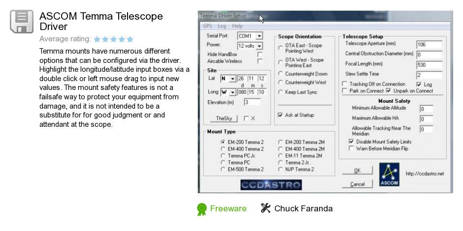 ASCOM Temma Telescope Driver