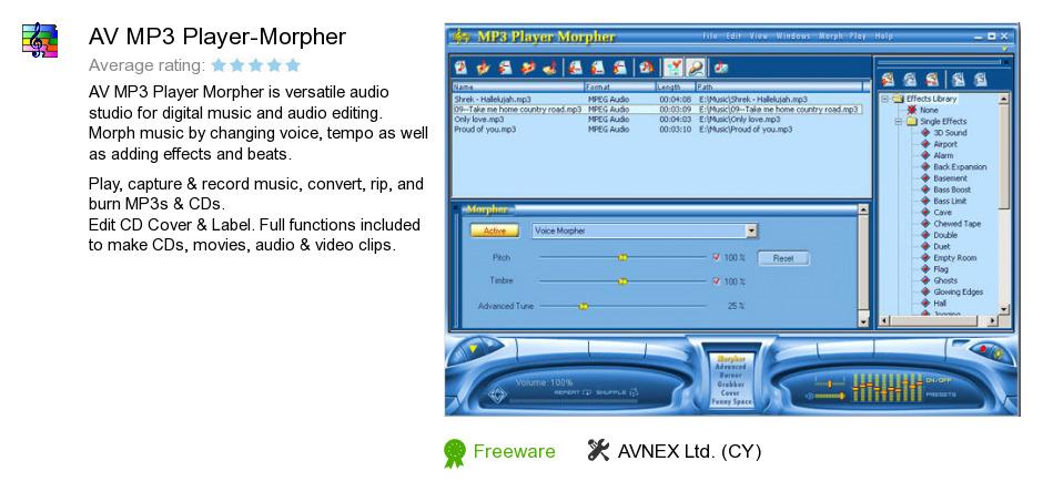 AV MP3 Player-Morpher