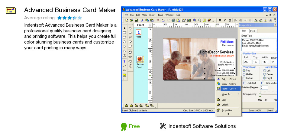 Advanced Business Card Maker