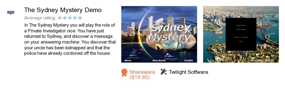 The Sydney Mystery Demo
