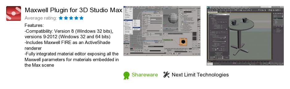 Maxwell Plugin for 3D Studio Max