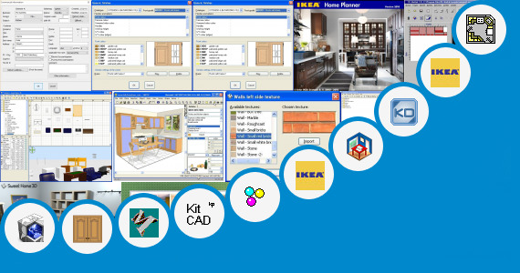 Software collection for Self Design Kitchen Design