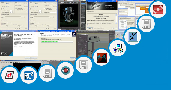 Software collection for Vue 3ds Max 2013 Plugin