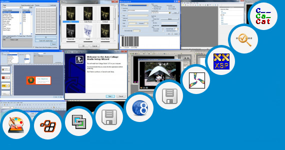 Software collection for Screen Beans Clipart