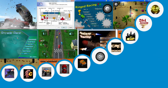 Software collection for 300 Kb Racing Game