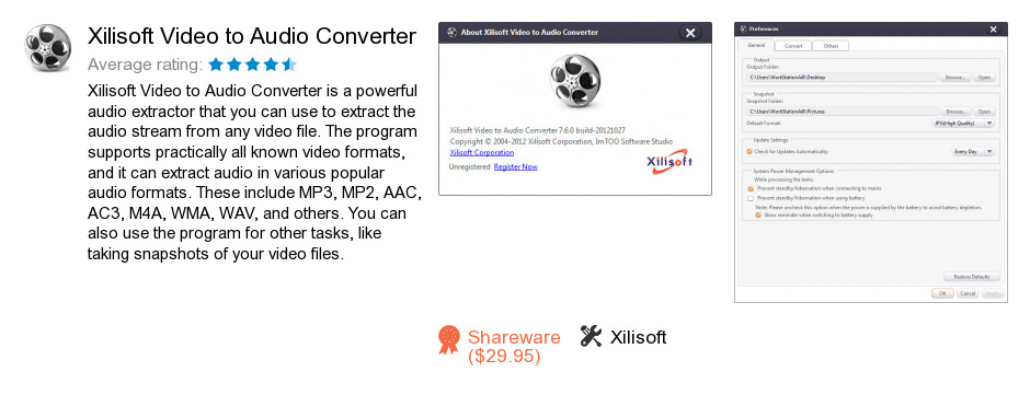 Xilisoft Video to Audio Converter