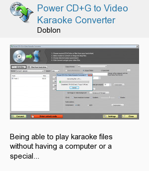 Power CD+G to Video Karaoke Converter