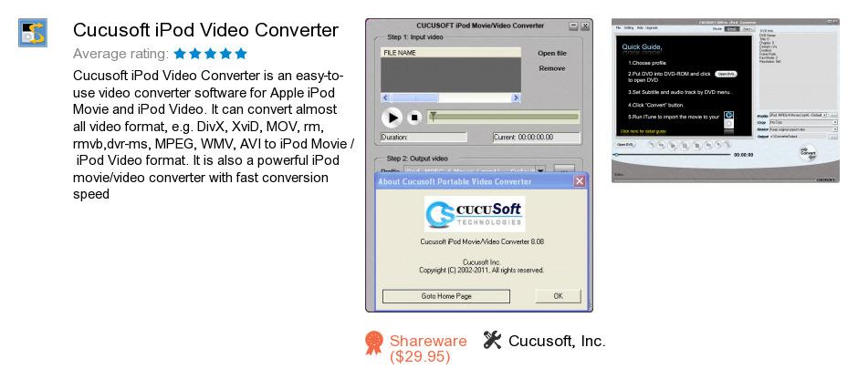Cucusoft iPod Video Converter