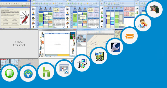Software collection for Car Service Center Floor Plan