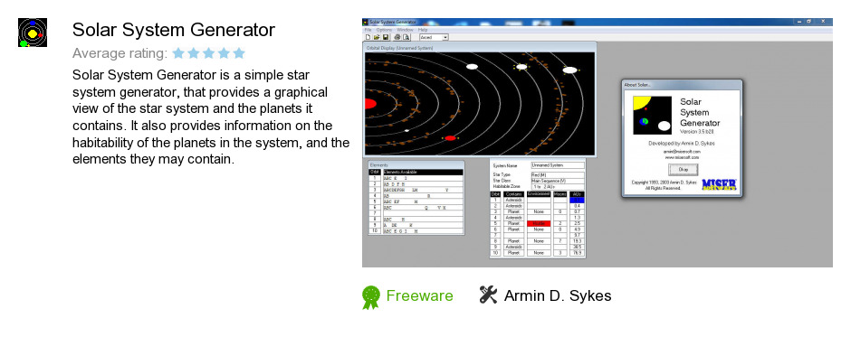 Solar System Generator