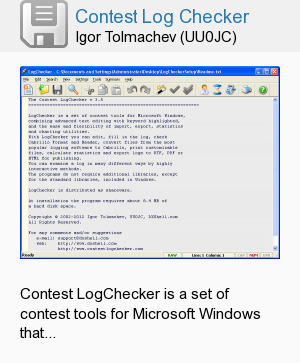 Contest Log Checker
