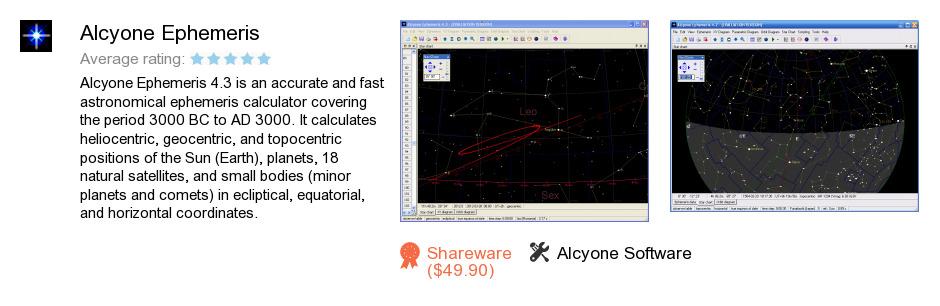 Alcyone Ephemeris