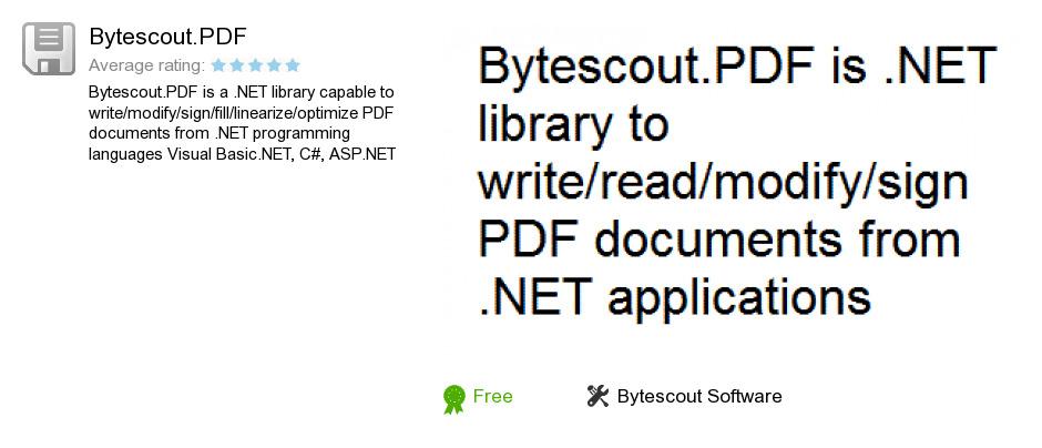Bytescout.PDF