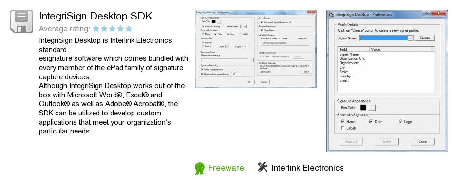 IntegriSign Desktop SDK