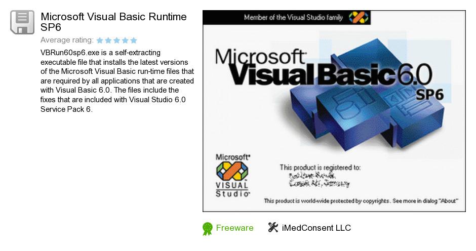 Microsoft Visual Basic Runtime SP6