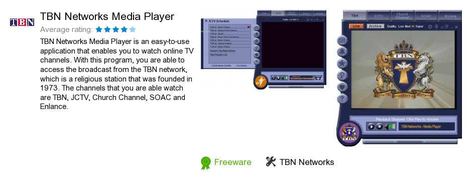TBN Networks Media Player
