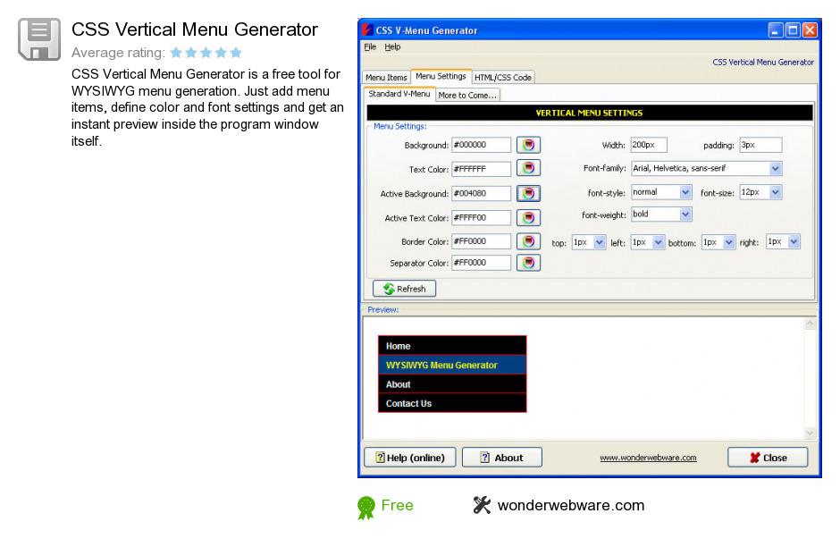 html vertical menu bar template - free css vertical menu generator download 11 870 002 bytes