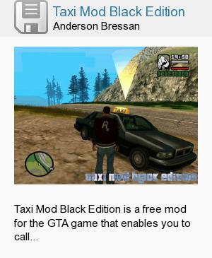 Taxi Mod Black Edition