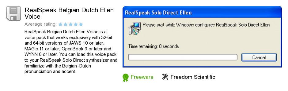RealSpeak Belgian Dutch Ellen Voice