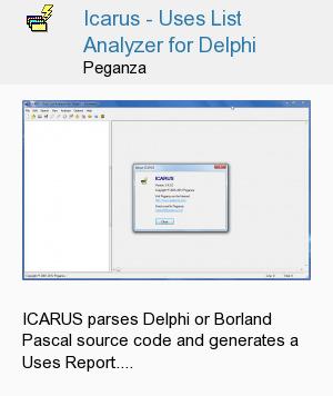 Icarus - Uses List Analyzer for Delphi
