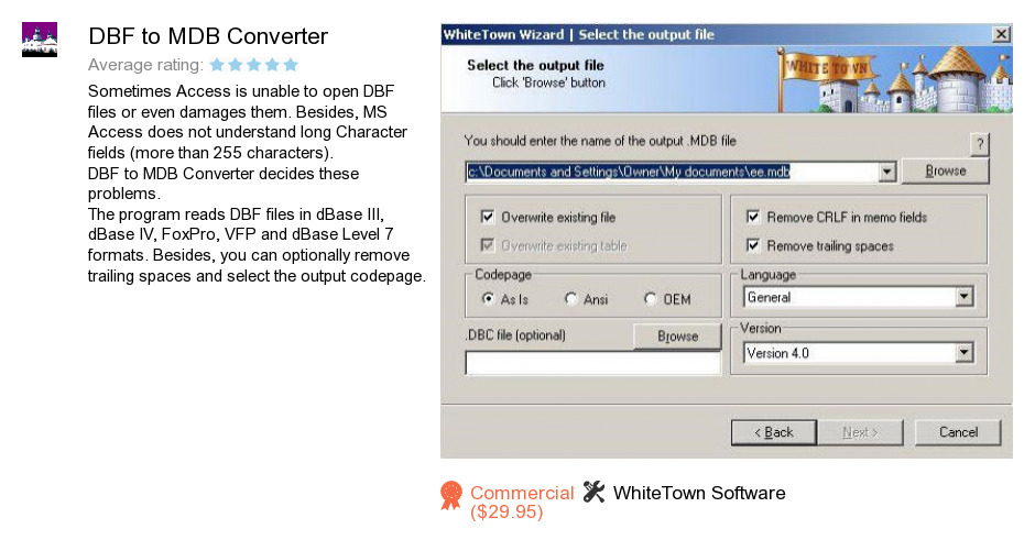 DBF to MDB Converter