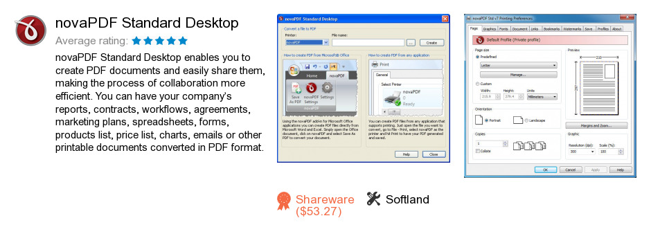 NovaPDF Standard Desktop