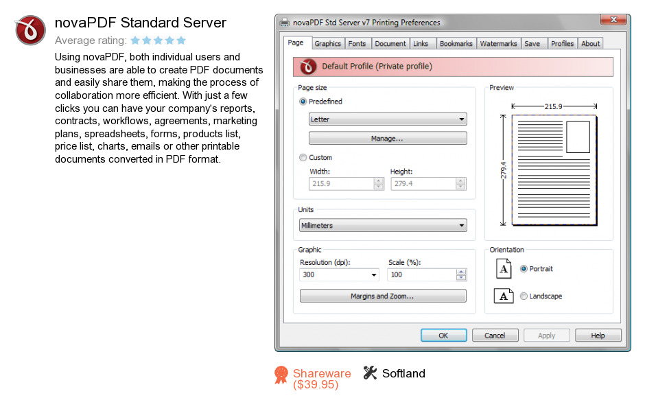 NovaPDF Standard Server