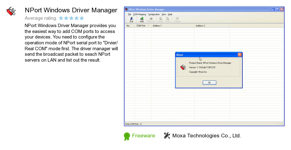 NPort Windows Driver Manager