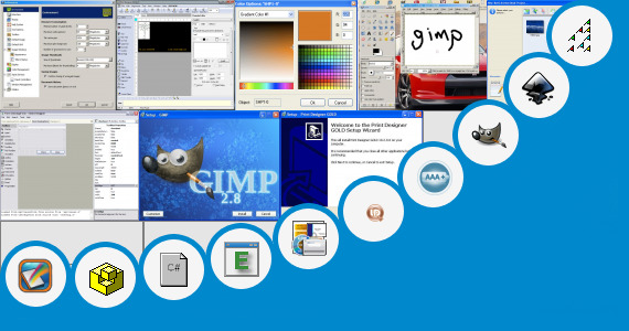 Open source logo design software repast and 89 more Open source layout software