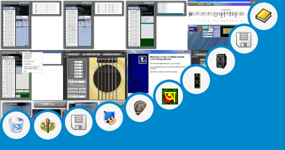 Software collection for Bangla Guitar Rhythm Learning Book