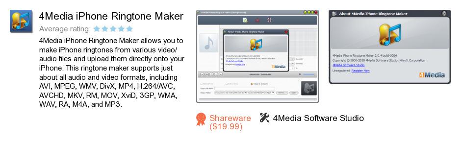 4Media iPhone Ringtone Maker